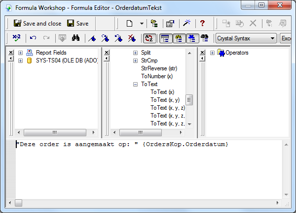 Date en ToText in Crystal Reports - ReportingBLOG