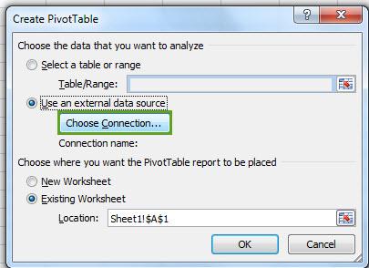 Draaitabel Excel Met Database Sql Server Reportingblog