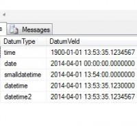 datumtypes SQL