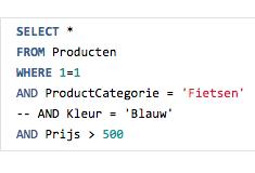 where 1=1 SQL